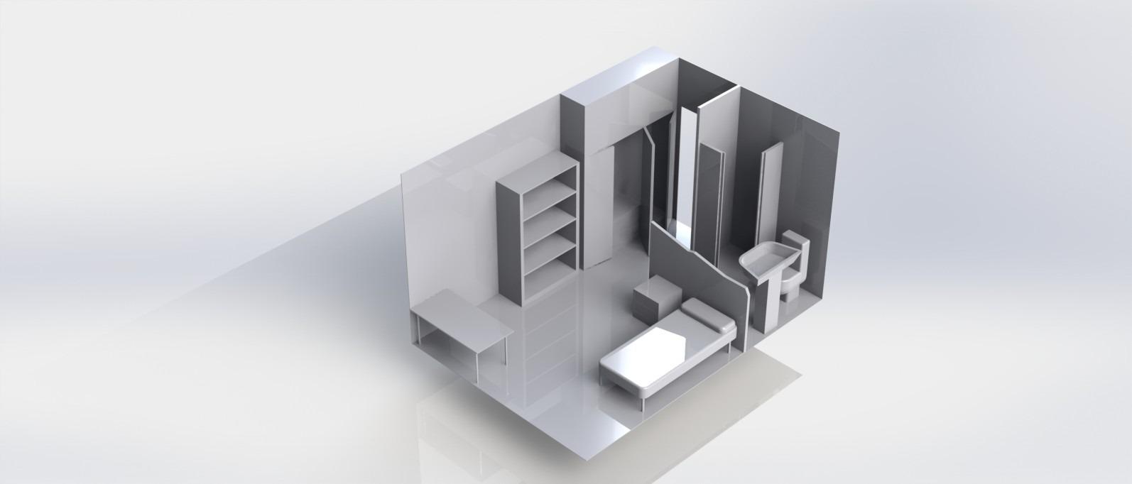 Modelo habitación en 3D